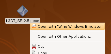 Installing L3DT using Wine