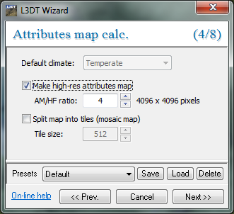 The attributes map wizard.