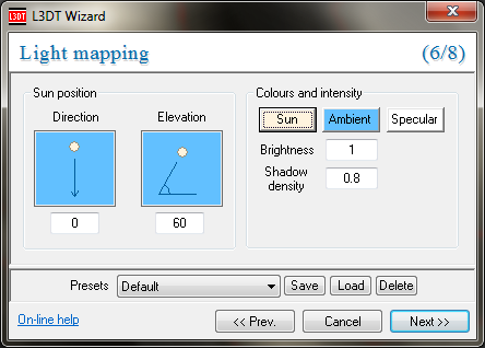 The light map wizard.