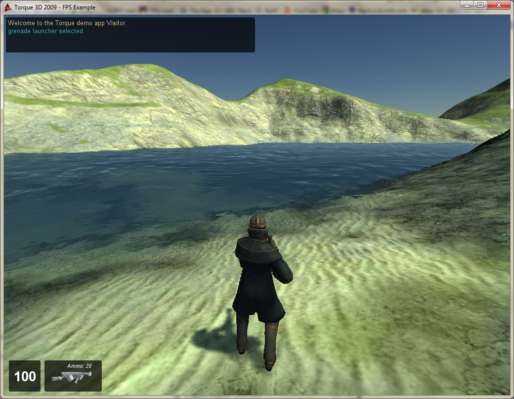 The terrain rendered in T3D.